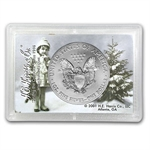 2014 1 oz Silver Eagle in Happy Holidays Design Harris Holder